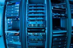 网络服务系统在数据屋子里 图库摄影