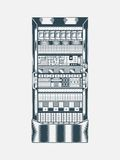 网络服务系统的例证 免版税库存图片