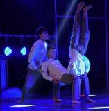 网络瘾校园舞蹈 库存照片