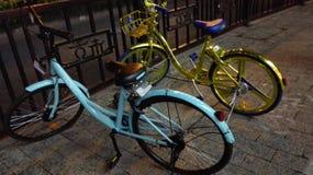 网络自行车在故宫 免版税库存图片