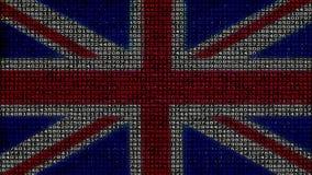 网络英国旗子-数字资料代码矩阵 股票视频