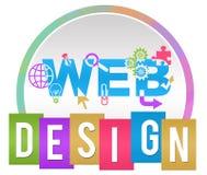 网络设计五颜六色圈子的条纹 免版税库存照片