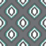 网络设计或家庭装饰的Ikat无缝的样式 库存图片