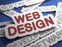 网络设计概念。 皇族释放例证