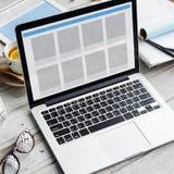 网络设计模板拷贝空间概念 免版税图库摄影