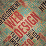 网络设计-难看的东西词云彩概念 库存图片