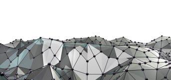 网络连接和互联网concept.3D净额 库存照片