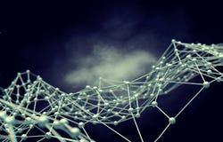 网络连接和互联网concept.3D净额 免版税图库摄影