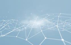 网络连接和互联网concept.3D净额 免版税库存照片