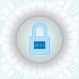 网络通行的加密使用VPN技术的 编号 免版税图库摄影