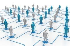 网络,连接的人民 库存照片