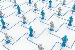 网络,连接的人民 免版税库存图片