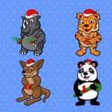 罕见的动物愉快的圣诞快乐 库存图片