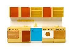 罕见的塑料玩具厨房 免版税库存图片