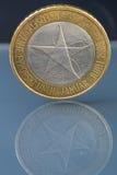 罕见的有限版三3欧元硬币由斯洛文尼亚发布了 库存照片