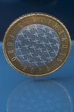 罕见的有限版三3欧元硬币由斯洛文尼亚发布了 免版税库存图片