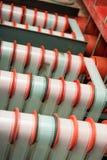 罕见的葡萄酒工业戏院影片发展机器 免版税库存照片