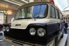 罕见的葡萄酒汽车的陈列在胶的2014年9月4日,在莫斯科,俄罗斯 免版税库存照片