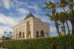 默罕默德陵墓v在拉巴特,摩洛哥 免版税库存图片