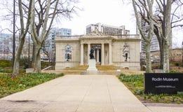 罗丹博物馆在市费城-费城/宾夕法尼亚- 2017年4月6日 免版税图库摄影