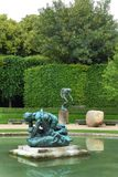 罗丹博物馆庭院,巴黎 图库摄影