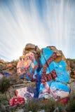 罗伊普赛尔墙壁上的近的氯化物亚利桑那 库存照片