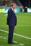 罗伊・霍奇森,英国国家橄榄球队的经理 免版税库存照片