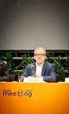 罗伯托・马罗尼在里米尼会议上 库存图片