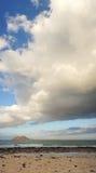 罗伯斯海岛看法从费埃特文图拉岛的。加那利群岛,西班牙。 免版税库存照片