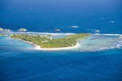 罗伯斯海岛鸟瞰图在波多黎各北部的 库存照片
