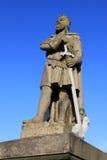 罗伯特国王雕象布鲁斯,斯特灵城堡 库存照片