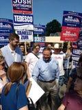 罗伯特赫嫩德斯,从新泽西的美国鲍伯赫嫩德斯,美国政客竞选参议员, 库存图片