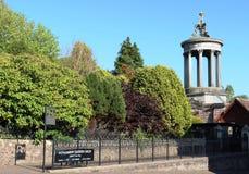 罗伯特・伯恩斯纪念纪念碑和庭院Alloway 免版税库存照片
