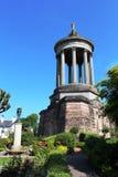 罗伯特・伯恩斯纪念纪念碑庭院, Alloway 免版税库存图片