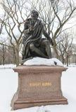 罗伯特・伯恩斯,中央公园, NYC 免版税图库摄影
