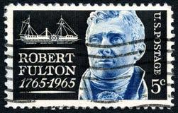 罗伯特・富尔顿美国邮票 免版税库存照片