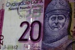 罗伯特・布鲁斯钞票,苏格兰 库存图片