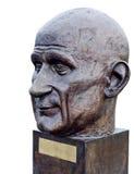 罗伯特・舒曼被隔绝的头雕象 库存照片