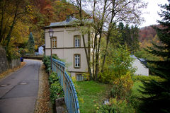 罗伯特・舒曼议院在卢森堡 免版税库存照片