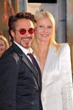 Gwyneth Paltrow,罗伯特Downey小,罗伯特Downey Jr.,罗伯特Downey, Jr。 图库摄影