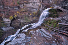 罗伯特Treman国家公园,伊塔卡, NY 免版税库存图片