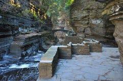 罗伯特Treman国家公园,伊塔卡, NY 库存照片