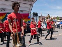罗克兰县自豪感2015年-游行乐队 免版税库存照片