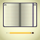 紫罗兰开放笔记本 皇族释放例证