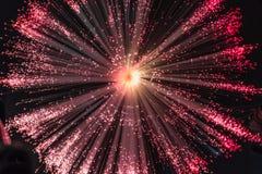 紫罗兰色光爆炸 免版税库存图片