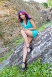 紫罗兰色光 免版税库存照片