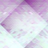 紫罗兰色和浅兰的三角抽象几何无缝的样式 免版税库存图片