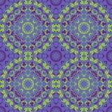 紫罗兰色圆无缝的样式 库存图片