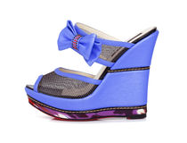 紫罗兰色平台鞋子 库存照片