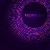 紫罗兰色技术圆为您的商标模板 库存例证